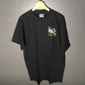 Vintage P-38 Fighter Plane Black Tee